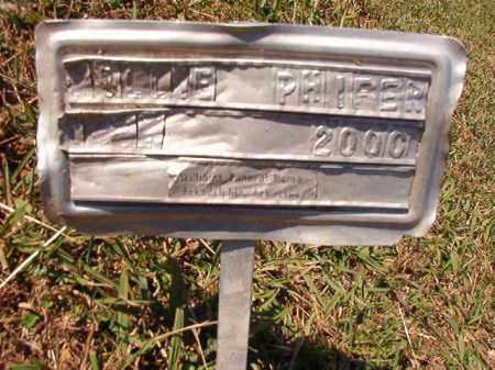 PHIFER, MILLIE - Dallas County, Arkansas | MILLIE PHIFER - Arkansas Gravestone Photos
