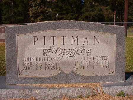 PORTER PITTMAN, ETTA - Dallas County, Arkansas | ETTA PORTER PITTMAN - Arkansas Gravestone Photos