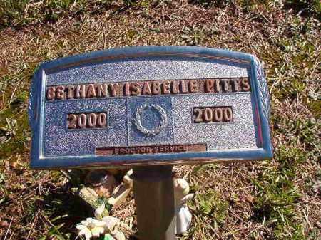 PITTS, BETHANY ISABELLE - Dallas County, Arkansas | BETHANY ISABELLE PITTS - Arkansas Gravestone Photos