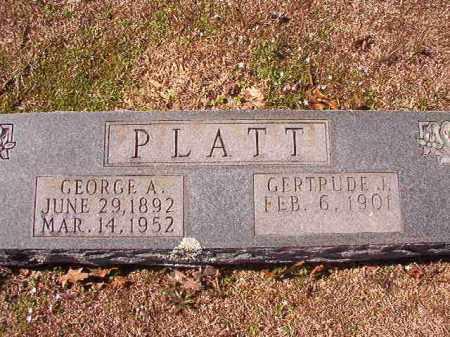 PLATT, GEORGE A - Dallas County, Arkansas | GEORGE A PLATT - Arkansas Gravestone Photos