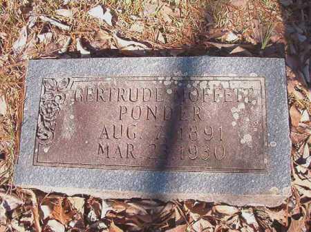 MOFFETT PONDER, GERTRUDE - Dallas County, Arkansas | GERTRUDE MOFFETT PONDER - Arkansas Gravestone Photos