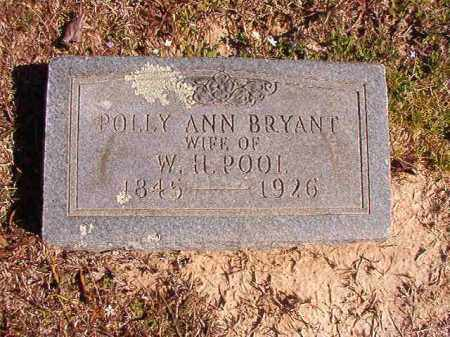 BRYANT POOL, POLLY ANN - Dallas County, Arkansas | POLLY ANN BRYANT POOL - Arkansas Gravestone Photos