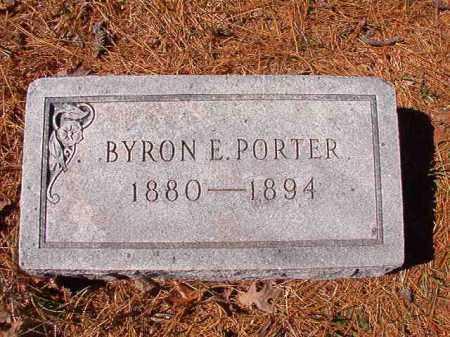 PORTER, BYRON E - Dallas County, Arkansas | BYRON E PORTER - Arkansas Gravestone Photos