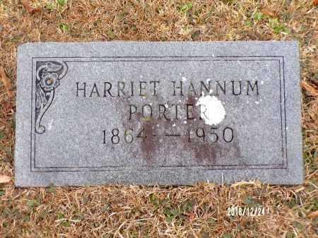 HANNUM PORTER, HARRIET - Dallas County, Arkansas   HARRIET HANNUM PORTER - Arkansas Gravestone Photos