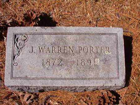 PORTER, J WARREN - Dallas County, Arkansas | J WARREN PORTER - Arkansas Gravestone Photos