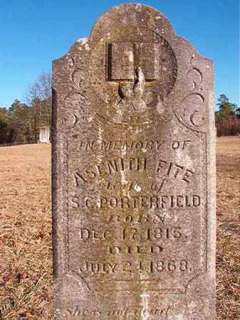 FITE PORTERFIELD, ASENITH - Dallas County, Arkansas | ASENITH FITE PORTERFIELD - Arkansas Gravestone Photos
