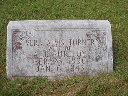 TURNER PURIFOY, VERA ALVIS - Dallas County, Arkansas   VERA ALVIS TURNER PURIFOY - Arkansas Gravestone Photos