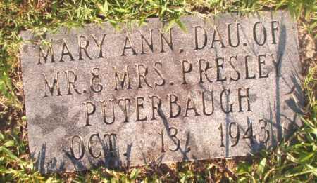 PUTERBAUGH, MARY ANN - Dallas County, Arkansas | MARY ANN PUTERBAUGH - Arkansas Gravestone Photos