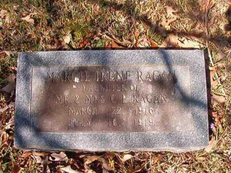RAGAN, MARGIE IRENE - Dallas County, Arkansas | MARGIE IRENE RAGAN - Arkansas Gravestone Photos