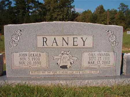 RANEY, OMA AMANDA - Dallas County, Arkansas   OMA AMANDA RANEY - Arkansas Gravestone Photos