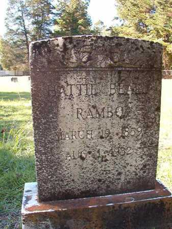 BEALL RAMBO, HATTIE - Dallas County, Arkansas | HATTIE BEALL RAMBO - Arkansas Gravestone Photos