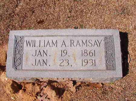 RAMSAY, WILLIAM A - Dallas County, Arkansas | WILLIAM A RAMSAY - Arkansas Gravestone Photos