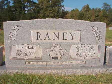 RANEY, JOHN DEKALB - Dallas County, Arkansas | JOHN DEKALB RANEY - Arkansas Gravestone Photos