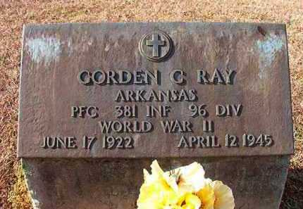RAY (VETERAN WWII), GORDEN C - Dallas County, Arkansas | GORDEN C RAY (VETERAN WWII) - Arkansas Gravestone Photos