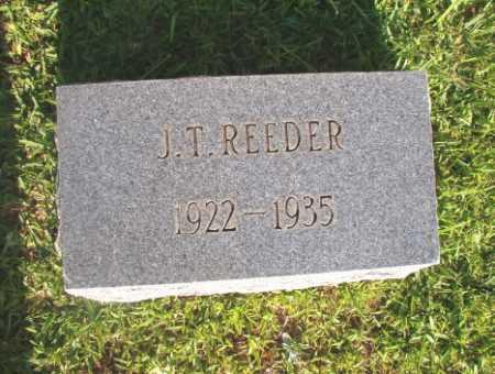 REEDER, J T - Dallas County, Arkansas | J T REEDER - Arkansas Gravestone Photos