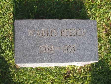 REEDER, W ARLIS - Dallas County, Arkansas | W ARLIS REEDER - Arkansas Gravestone Photos