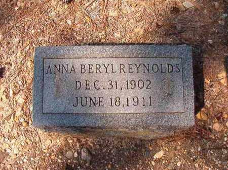 REYNOLDS, ANNA BERYL - Dallas County, Arkansas | ANNA BERYL REYNOLDS - Arkansas Gravestone Photos