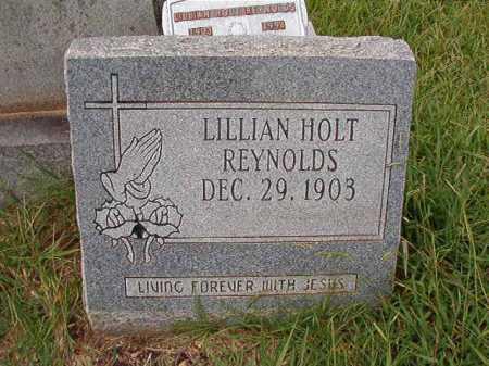 HOLT REYNOLDS, LILLIAN - Dallas County, Arkansas | LILLIAN HOLT REYNOLDS - Arkansas Gravestone Photos
