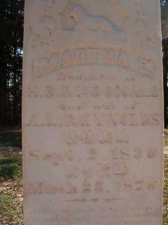MCDONALD REYNOLDS, MARTHA E - Dallas County, Arkansas | MARTHA E MCDONALD REYNOLDS - Arkansas Gravestone Photos