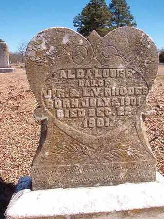 RHODES, ALDA LOUISE - Dallas County, Arkansas | ALDA LOUISE RHODES - Arkansas Gravestone Photos