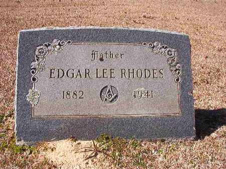 RHODES, EDGAR LEE - Dallas County, Arkansas | EDGAR LEE RHODES - Arkansas Gravestone Photos