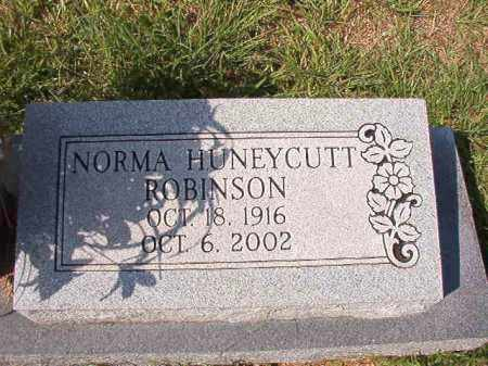HUNEYCUTT ROBINSON, NORMA - Dallas County, Arkansas   NORMA HUNEYCUTT ROBINSON - Arkansas Gravestone Photos