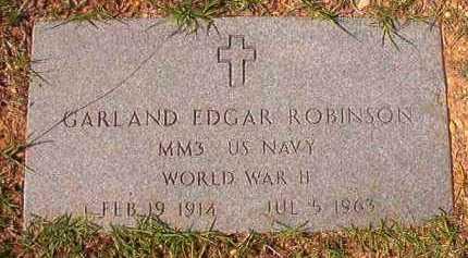 ROBINSON (VETERAN WWII), GARLAND EDGAR - Dallas County, Arkansas | GARLAND EDGAR ROBINSON (VETERAN WWII) - Arkansas Gravestone Photos