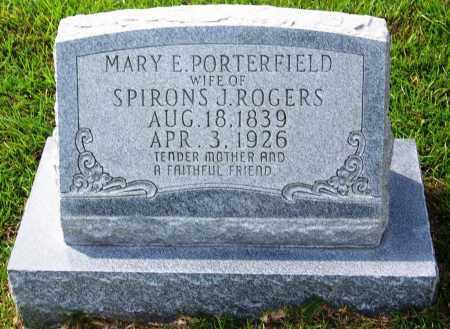 PORTERFIELD ROGERS, MARY E - Dallas County, Arkansas   MARY E PORTERFIELD ROGERS - Arkansas Gravestone Photos