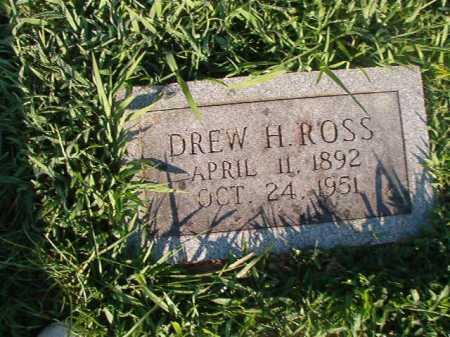 ROSS, DREW H - Dallas County, Arkansas | DREW H ROSS - Arkansas Gravestone Photos