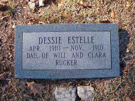RUCKER, DESSIE ESTELLE - Dallas County, Arkansas | DESSIE ESTELLE RUCKER - Arkansas Gravestone Photos