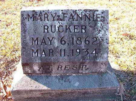 RUCKER, MARY FANNIE - Dallas County, Arkansas | MARY FANNIE RUCKER - Arkansas Gravestone Photos