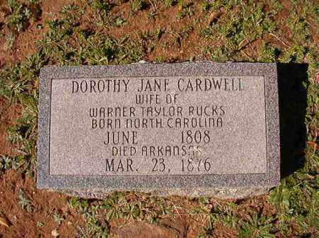 RUCKS, DOROTHY JANE - Dallas County, Arkansas | DOROTHY JANE RUCKS - Arkansas Gravestone Photos