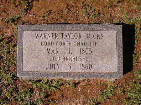 RUCKS, WARNER TAYLOR - Dallas County, Arkansas   WARNER TAYLOR RUCKS - Arkansas Gravestone Photos