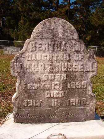 RUSSELL, BERTHA M - Dallas County, Arkansas | BERTHA M RUSSELL - Arkansas Gravestone Photos