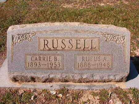 RUSSELL, CARRIE B - Dallas County, Arkansas | CARRIE B RUSSELL - Arkansas Gravestone Photos