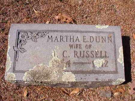 DUNN RUSSELL, MARTHA E - Dallas County, Arkansas | MARTHA E DUNN RUSSELL - Arkansas Gravestone Photos