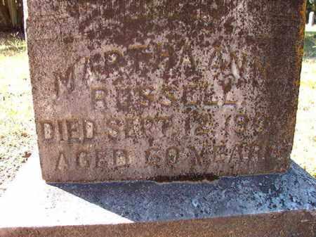 RUSSELL, MARTHA ANN - Dallas County, Arkansas | MARTHA ANN RUSSELL - Arkansas Gravestone Photos
