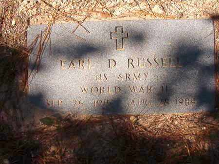 RUSSELL (VETERAN WWII), EARL D - Dallas County, Arkansas | EARL D RUSSELL (VETERAN WWII) - Arkansas Gravestone Photos