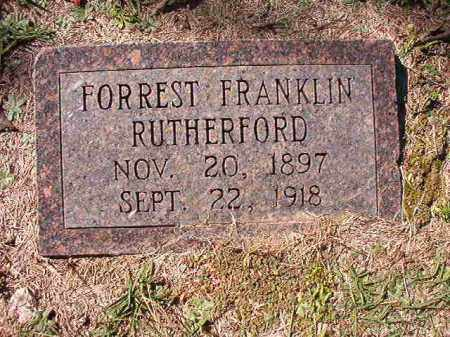 RUTHERFORD, FORREST FRANKLIN - Dallas County, Arkansas | FORREST FRANKLIN RUTHERFORD - Arkansas Gravestone Photos