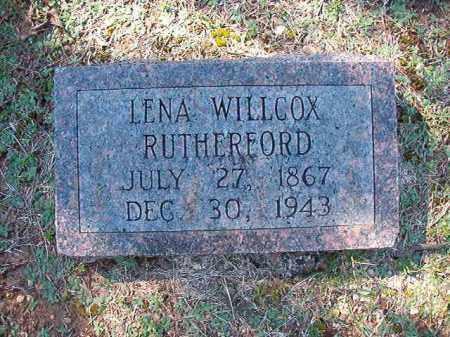 WILLCOX RUTHERFORD, LENA - Dallas County, Arkansas | LENA WILLCOX RUTHERFORD - Arkansas Gravestone Photos