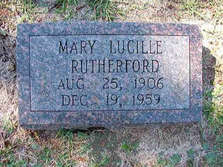 RUTHERFORD, MARY LUCILLE - Dallas County, Arkansas | MARY LUCILLE RUTHERFORD - Arkansas Gravestone Photos