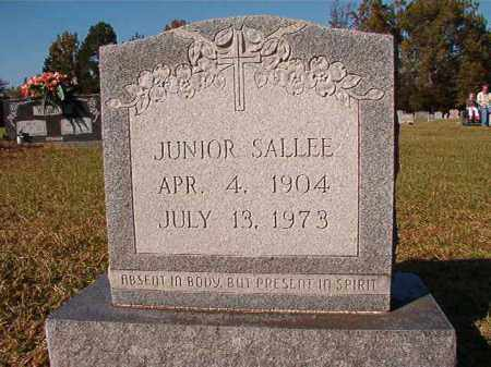 SALLEE, JUNIOR - Dallas County, Arkansas | JUNIOR SALLEE - Arkansas Gravestone Photos