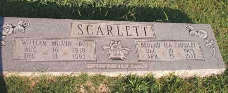 CROSSLEY SCARLETT, BEULAH ILA - Dallas County, Arkansas   BEULAH ILA CROSSLEY SCARLETT - Arkansas Gravestone Photos