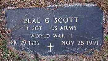 SCOTT (VETERAN WWII), EUAL G - Dallas County, Arkansas | EUAL G SCOTT (VETERAN WWII) - Arkansas Gravestone Photos