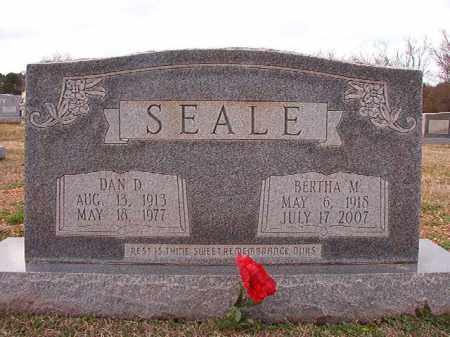 SEALE, DAN D - Dallas County, Arkansas | DAN D SEALE - Arkansas Gravestone Photos
