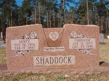 SHADDOCK, CHRISTINE - Dallas County, Arkansas | CHRISTINE SHADDOCK - Arkansas Gravestone Photos