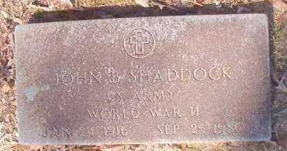 SHADDOCK (VETERAN WWII), JOHN B - Dallas County, Arkansas   JOHN B SHADDOCK (VETERAN WWII) - Arkansas Gravestone Photos