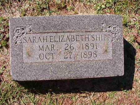 SHIPP, SARAH ELIZABETH - Dallas County, Arkansas   SARAH ELIZABETH SHIPP - Arkansas Gravestone Photos
