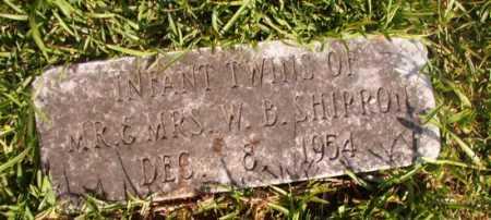SHIRRON, INFANT TWINS - Dallas County, Arkansas   INFANT TWINS SHIRRON - Arkansas Gravestone Photos