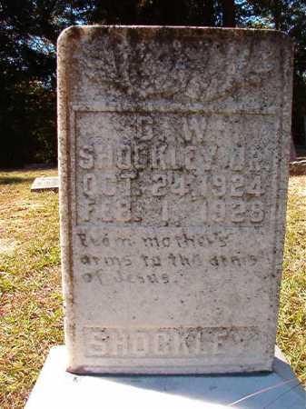 SHOCKLEY, JR, G W - Dallas County, Arkansas   G W SHOCKLEY, JR - Arkansas Gravestone Photos